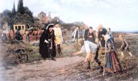 Friedrich II. inspiziert den Kartoffelanbau